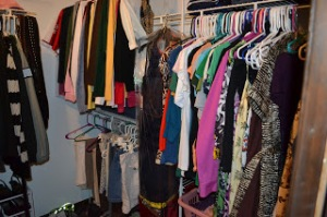 Her side of the closet!