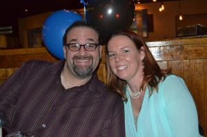 Heather and I 40th Bday